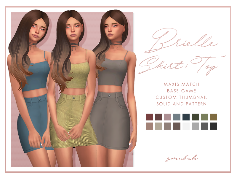 Brielle Skirt & Top by smubuh
