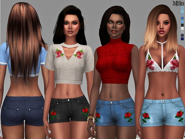 S4 Boohoo Summeria Shorts by Margeh-75