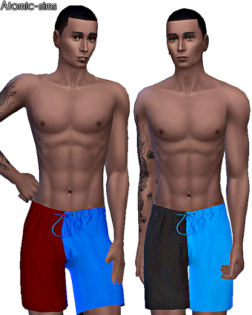 Topman 2 colored swim shorts