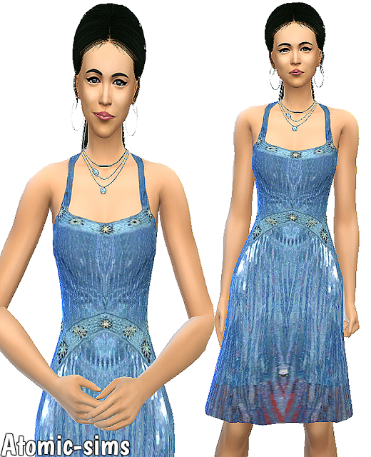 Simchic blue glitter dress conversion