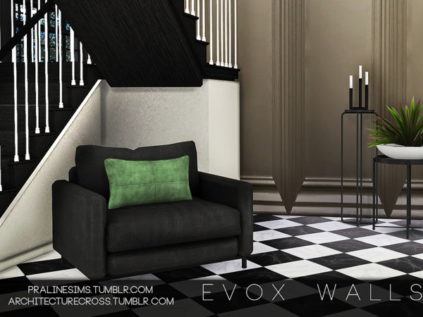 EVOX Walls by Pralinesims