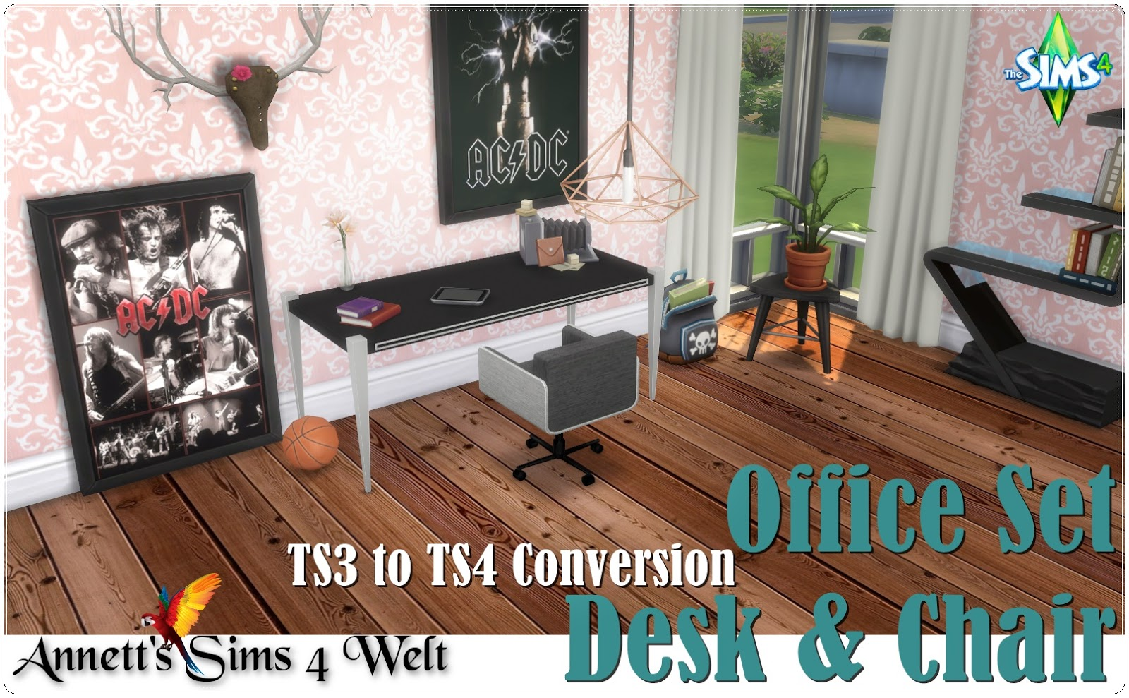 Office Set - Desk & Chair by Annett85