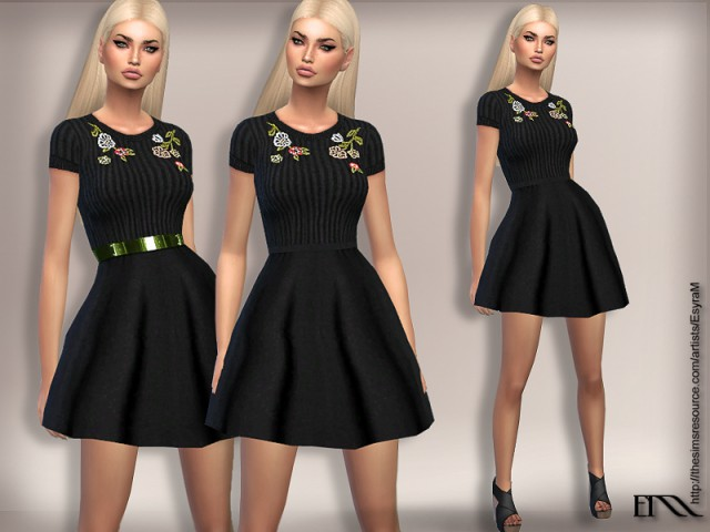 Mini Dress with Embroidery by EsyraM