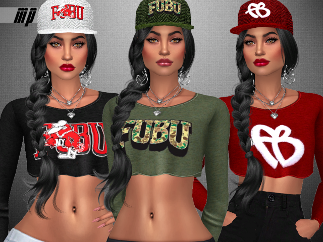 MP Female FUBU Collection Crop (Tops) by MartyP