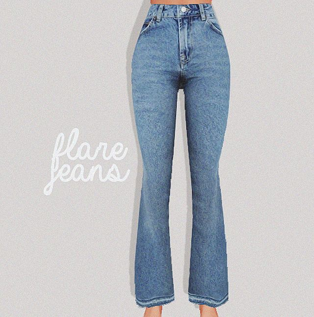flare jeans by Puresims