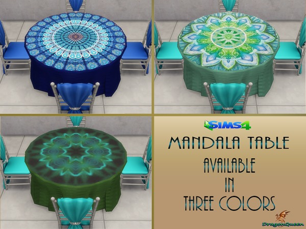 Mandala Table by DragonQueen