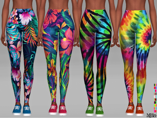 Aloha Leggings by Margeh-75