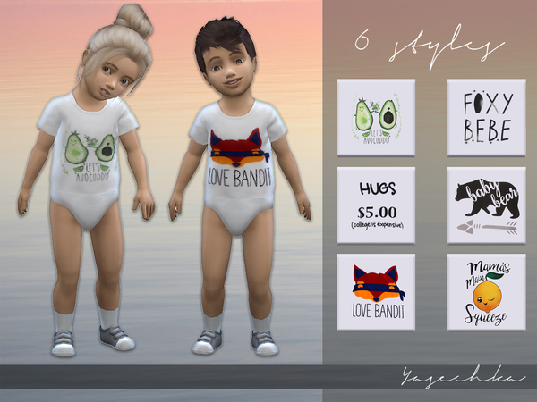 Yasechka Toddler Bodysuit v1 by Yasechka