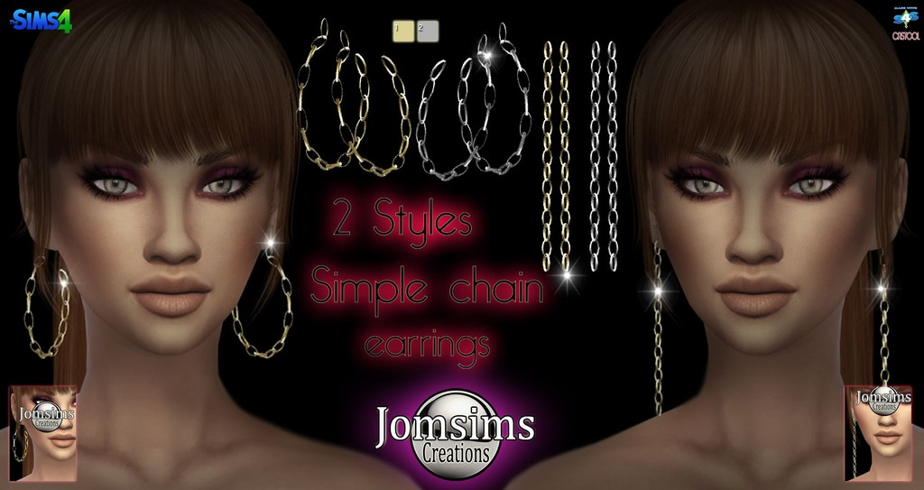 Simple chaine earrings by JomSims