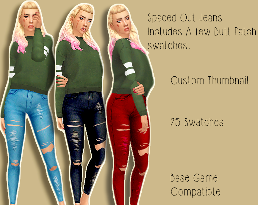 SPACED OUT JEANS  BGC MM SKINNIES by taylortheferret