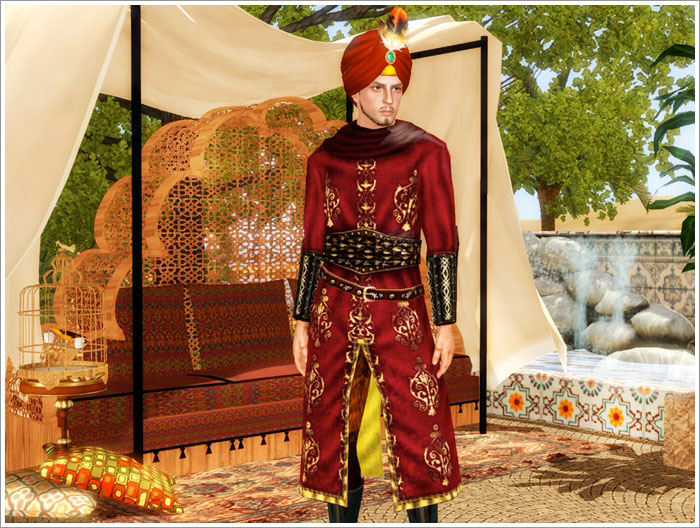 Medieval oriental clothes by Severinka