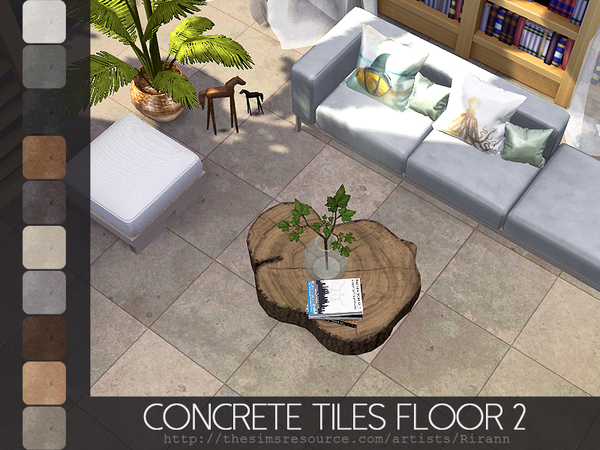 Concrete Tiles Floor 2 by Rirann