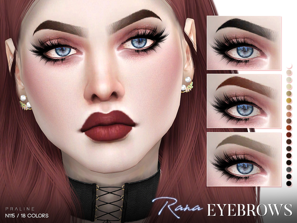 Rana Eyebrows N115 by Pralinesims