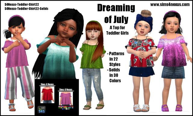 Dreaming of July top by Sims4Nexus