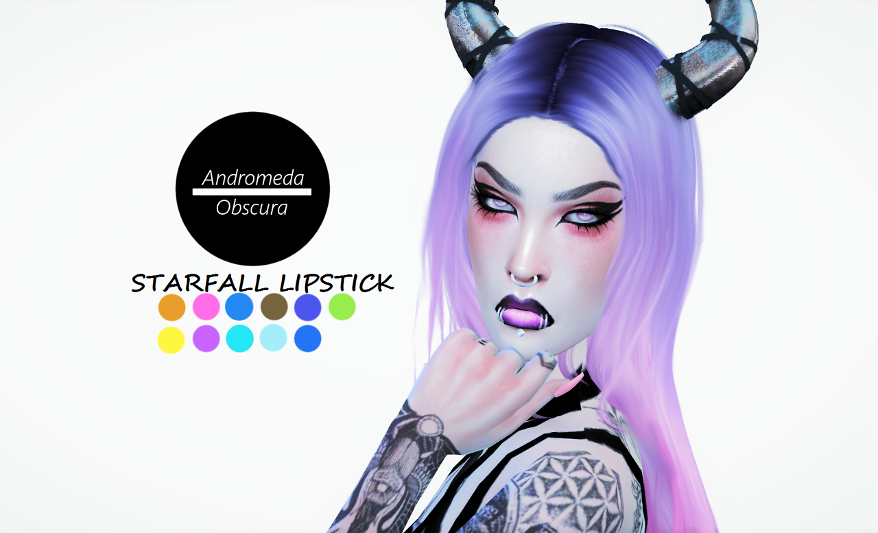 Starfall Lipstick by andromedaobscura
