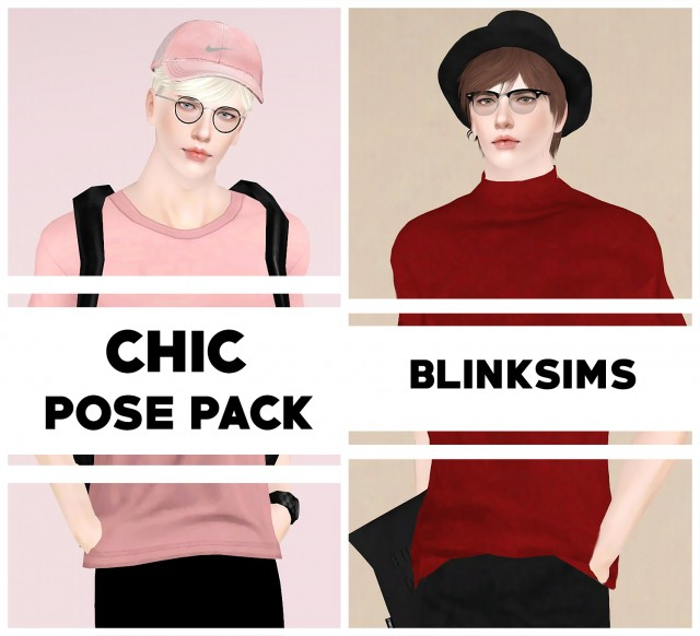 Chic Pose Pack by Blinksims