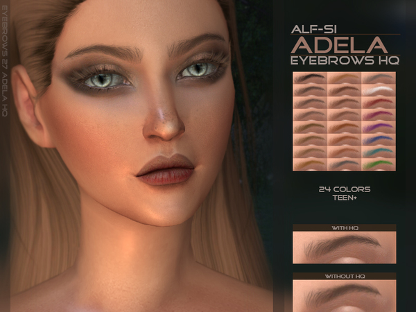 Adela - Eyebrows HQ by Alf-si