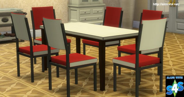 Retro Dining Table and Chairs by Simista