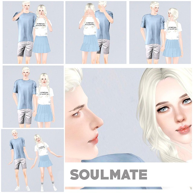 Soulmate Pose Pack by Blinksims
