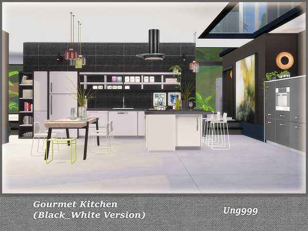 Gourmet Kitchen ( Black and White Version ) by ung999