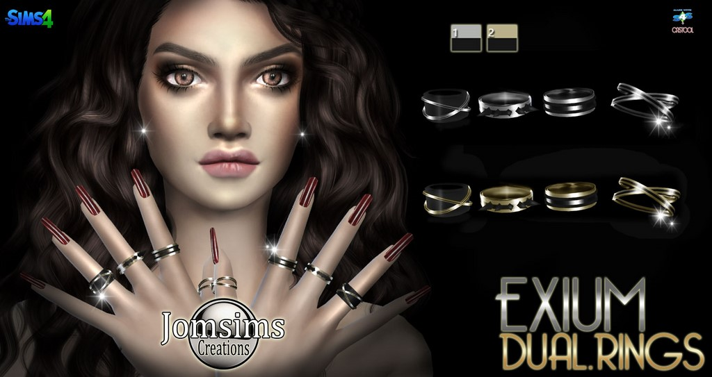 EXIUM duo rings by JomSims