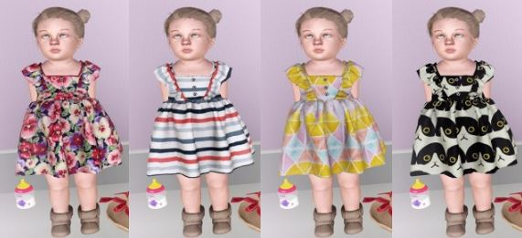 Tops-Dresses (Toddler) by Descargassims