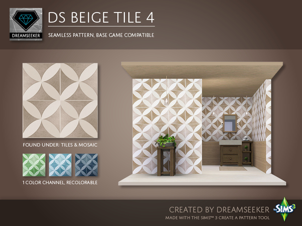 DS Beige Tile 4 by Dreamseeker