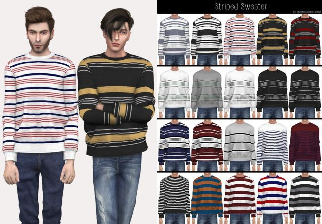 AM Striped Sweater by Spectacledchic