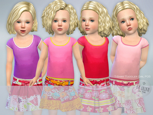 T-Shirt Toddler Girl P05 by lillka