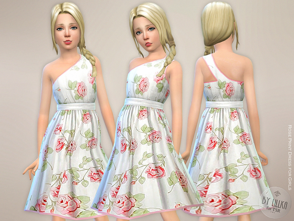 Rose Print Dress for Girls by lillka