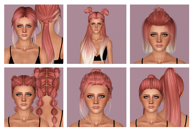 Hairs dump #76 - LeahLillith Hairs by IfcaSims