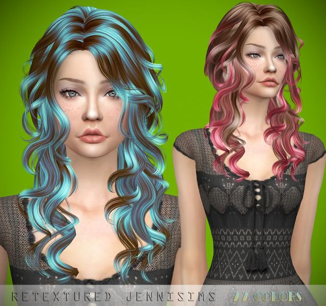 Newsea Pepper Mint Hair retexture by JenniSims
