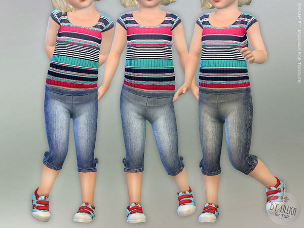 Skinny Fit Jeggings for Toddler by lillka