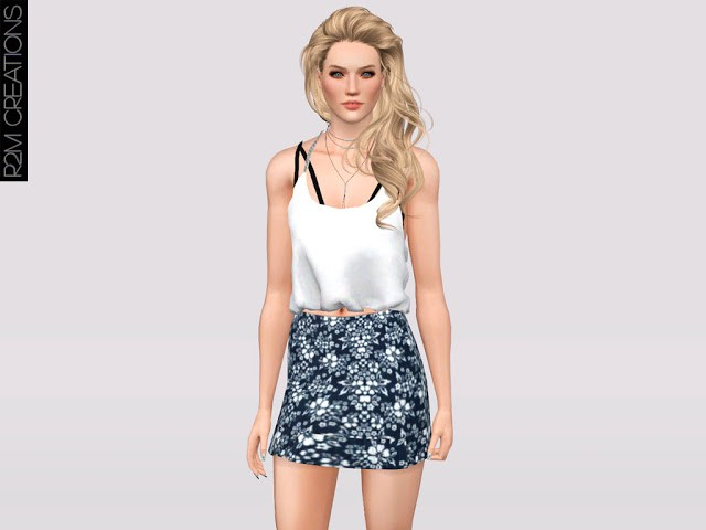 SKIRT FLORAL FOR WOMEN by Re Maron