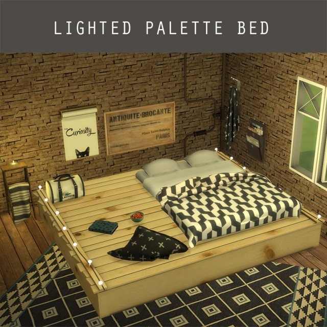 Lighted Palette Bed by Leo-Sims