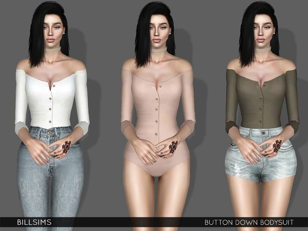 Button Down Bodysuit by Bill Sims