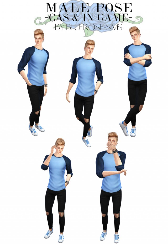 5 poses IN GAME and CAS by Bluerose-sims