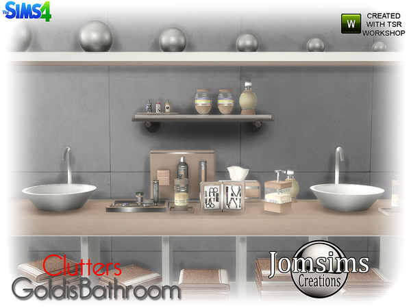 Goldis bathroom clutters by jomsims