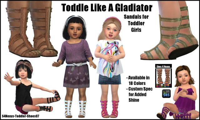 Toddle Like A Gladiator by Sims4Nexus