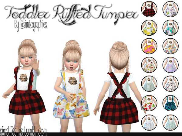 Toddler Ruffled Jumper by simtographies