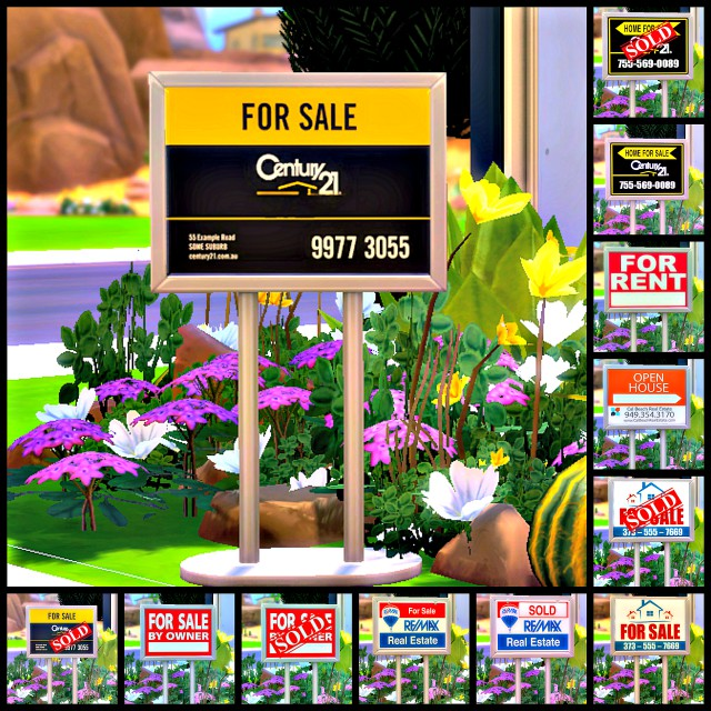 REAL ESTATE SIGN by sims4sisters
