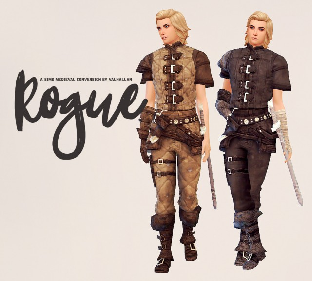 Rogue: a The Sims Medieval outfit conversion by Valhallansim
