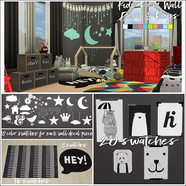 Kids Room Wall Deco & Rugs by Sympxls