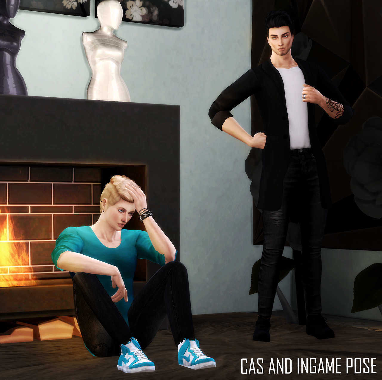 Male Pose V-2 by bluerose-sims