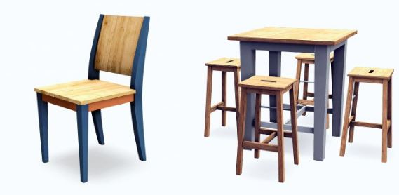 MXIMS IKEA Bar Table & Kale Dining Chair by sketchbookpixels