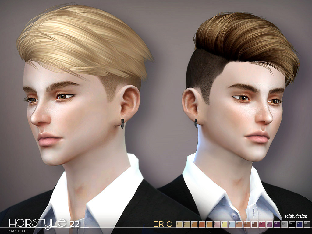 sclub ts4 hair Eric n22 by S-Club