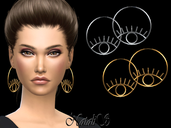 NataliS_ Eye Hoop Earrings by NataliS