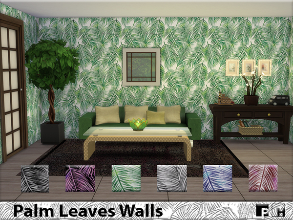 Palm Leaves Walls by Pinkfizzzzz