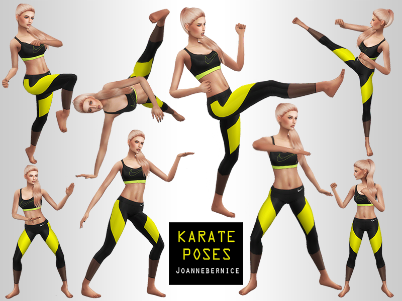 KARATE POSES by joannebernice