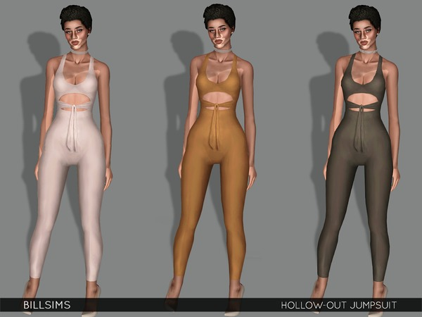 Hollow-out Jumpsuit by Bill Sims